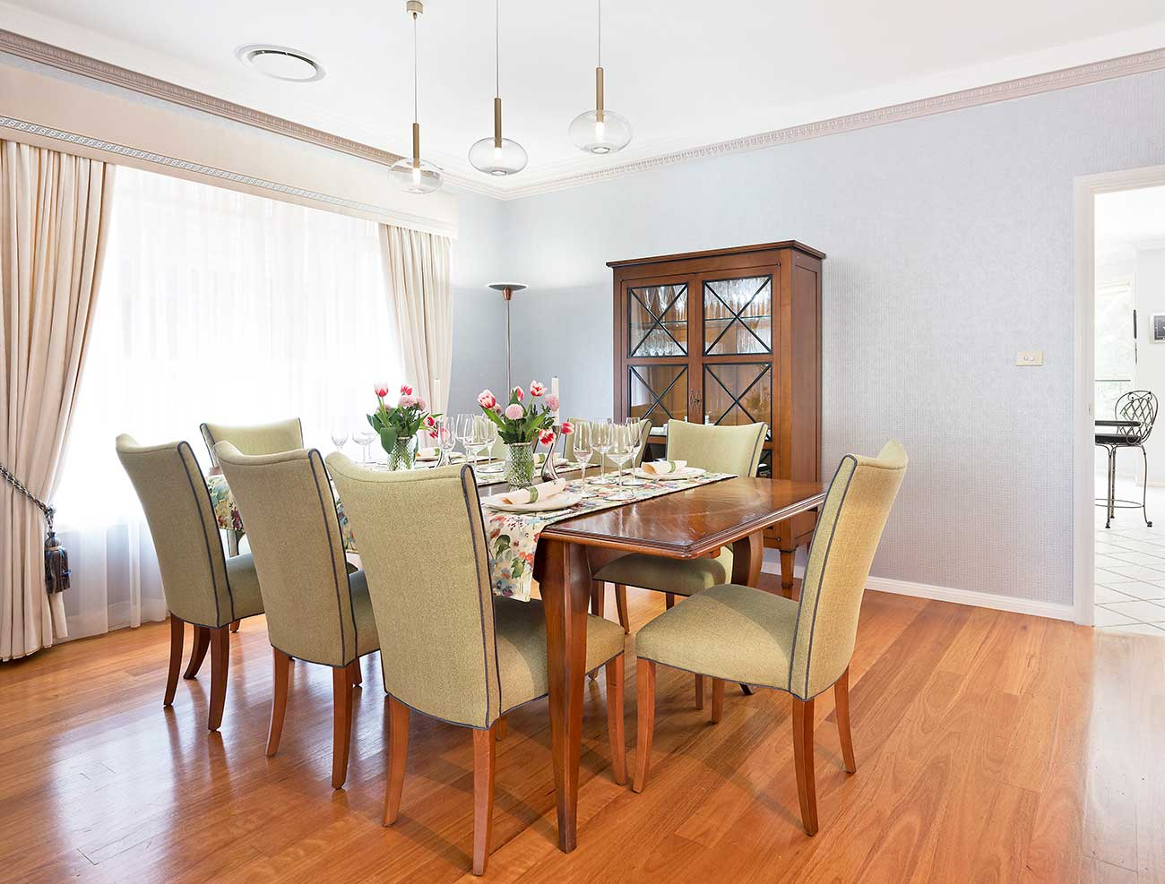Dining room set for a feast