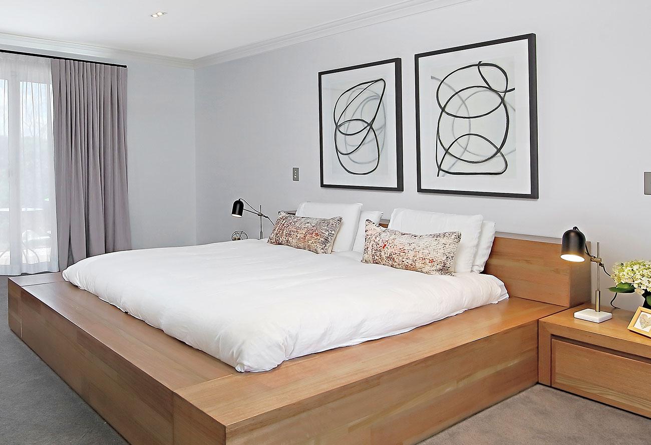 Master bedroom in neutral tones