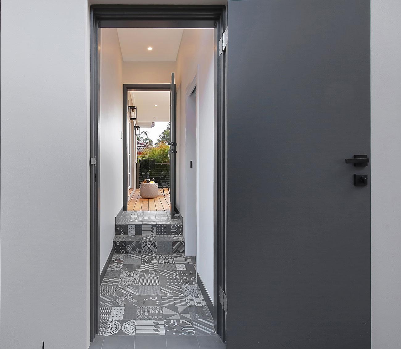 Tiled Walkway